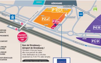 Aéroport de Strasbourg, stationnement aux parkings P4 ou P5 : infos pratiques !